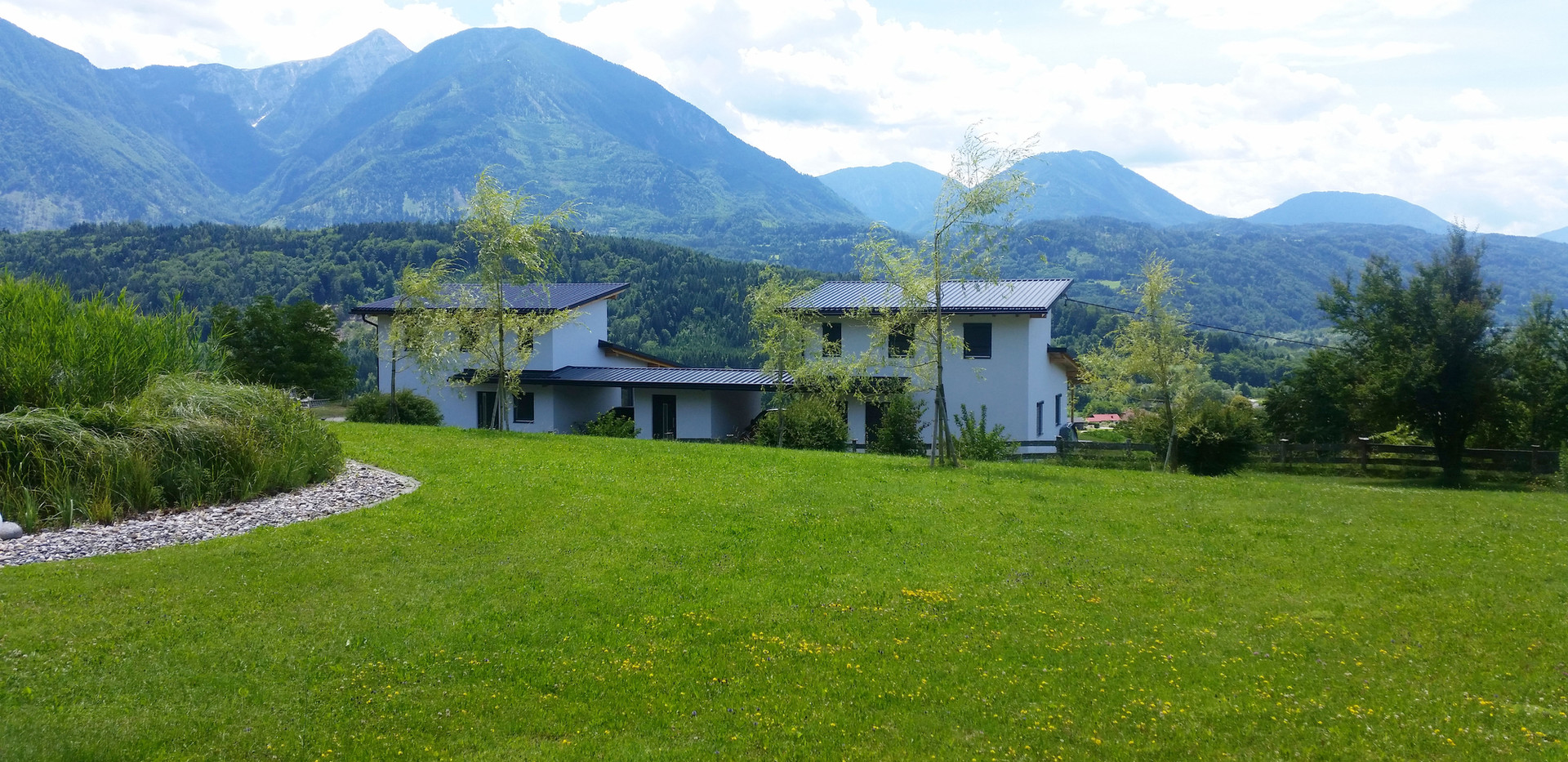 Häuser Ausblick Berge