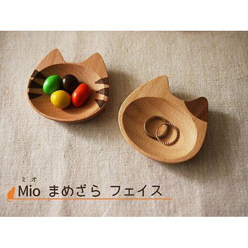豆皿 フェイス Mioシリーズ ネコ 【インドネシア製】