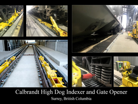 Recently Installed Calbrandt Railcar Mover and Gate Opener