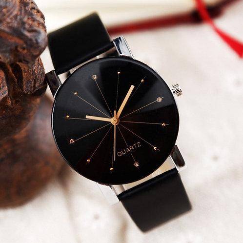 Women's  Quartz Wristwatch - Leather Strap