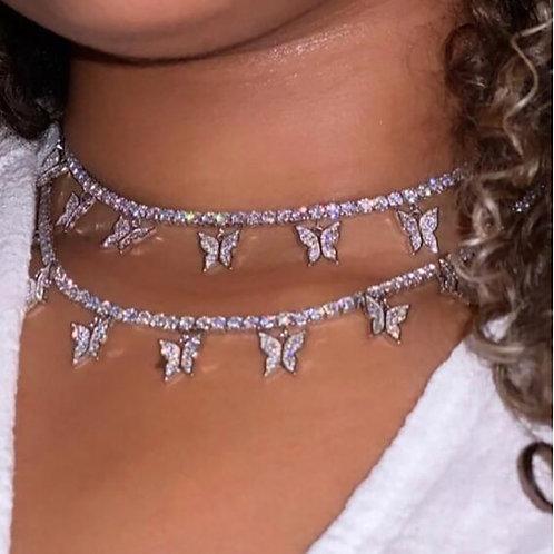 Butterfly Choker Necklace
