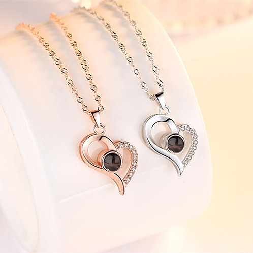 """I Love You"" Necklace - 100 Languages"