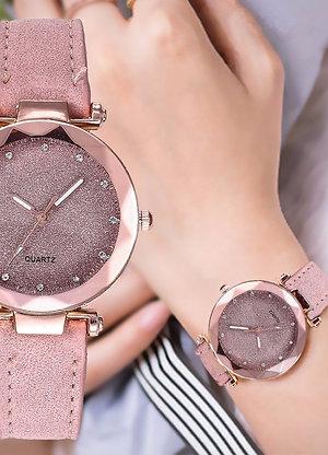 Women's Luxury Quartz Watch -  Suede Strap