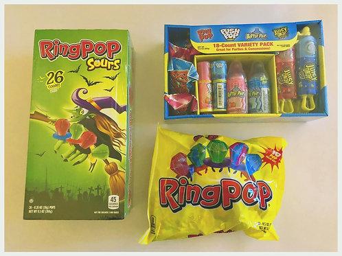 Ring pops et autres candies