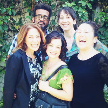 Cast of How To Beat Your Sister-in-Law (at everything) - Melissa Greenspan, Michelle Azar, Suzy Nakamura, Phil Lamarr, Iris Braydon
