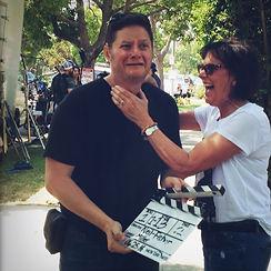 Debra Neil Fisher and Darryl Miller messing around