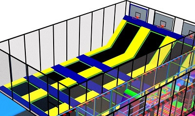 An Ordinary Day in A Trampoline Park Manufacturer