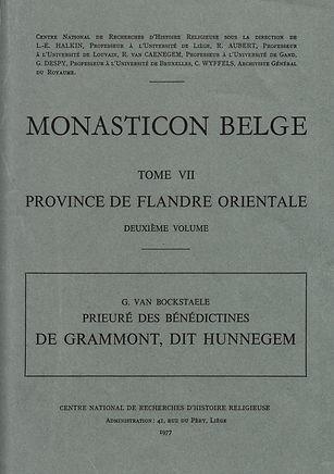 Hunnegem Monasticon Belge VII