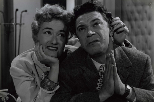 Yvonne Lex en Nand Buyl in Wat doen we met de liefde? (1957)