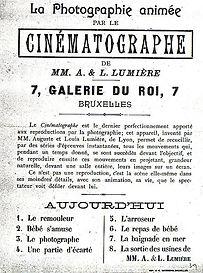 1 Maart 1896 Eerste filmvoorstelling Brussel