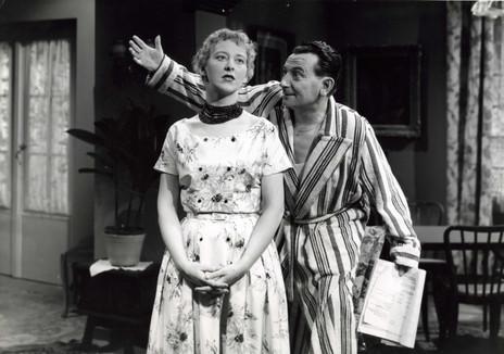 Dora Vandergroen en Charles Janssens in Vuur, liefde en vitaminen (1956)