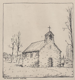 Eerste kerk | ©Archief Hunnegem