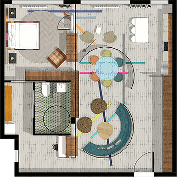 NEW YORK CITY LOFT APARTMENT FLOOR PLAN