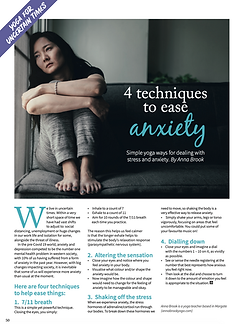 Techniques To Ease Anxiety Article - Om Magazine