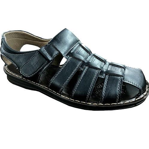 Slimex17 KRAZY Shoe Artists Relaxing Men's Slip-on Velcro Strap Black Sandal