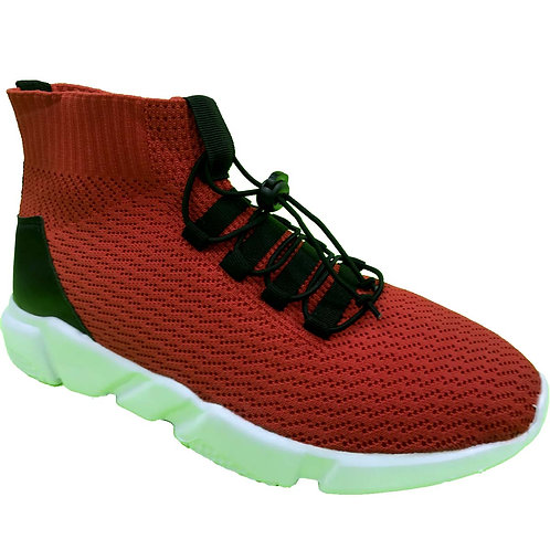 Shoe Artists Republic Collection Men's Shane Red knitted Sneaker