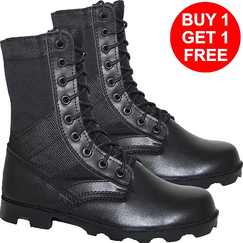 Men's BOGO Leather 8 inch Tactical Black Lace-Up Boot