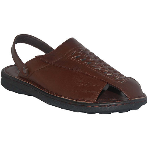 Milton KRAZY Breathable Men's Slip-on Adjustable Back Strap Dark Brown Sandal