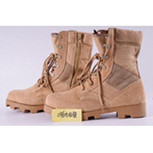 Speedy Men's 8 inch Beige Leather Speed Lace with Side Zipper Jungle Boot