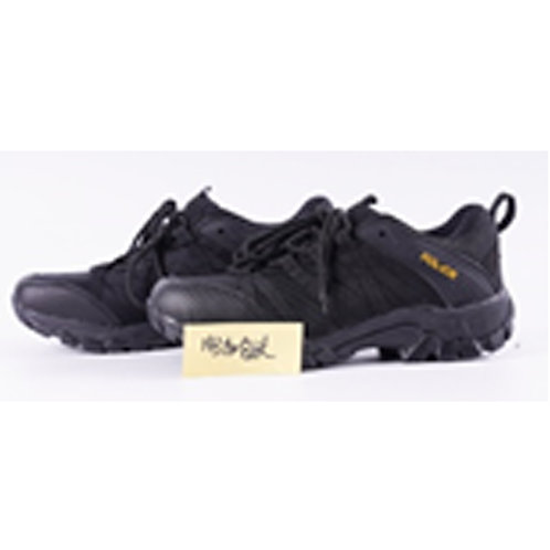 Men's 3 inch Lace Up Black Leather Tactical Shoe, Swat Logo