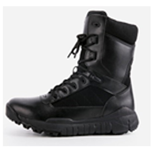 Labyrinth Men's 8 inch Black Leather Lace Up, Padded Collar Combat Boot