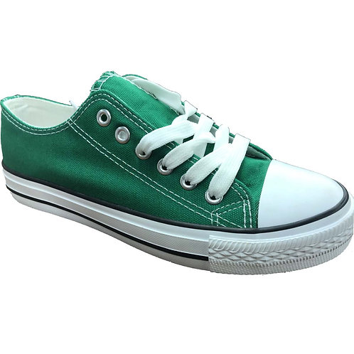 Skater Style Shoe Artists Republic Collection Men's Green Canvas Sneaker