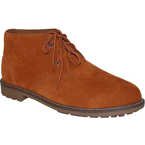 Suntum Men's Brown Casual Lace-up Suede Chukka Boot