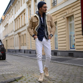 A Soft Military Style Fashion Look.