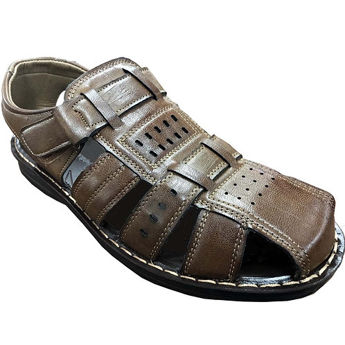 Slimex18 KRAZY Shoe Artists Relaxing Men's Slip-on Velcro Strap Coffee Sandal
