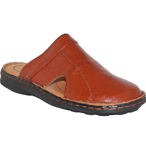 KRAZY Shoes Breezy Men's Slip-on Open Back Cognac Sandal