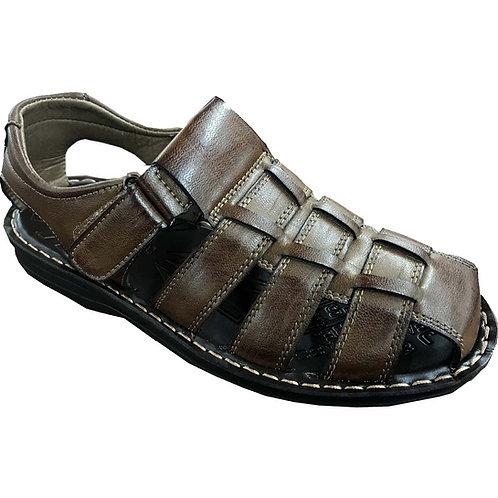 Slimex17 KRAZY Shoe Artists Relaxing Men's Slip-on Velcro Strap Coffee Sandal