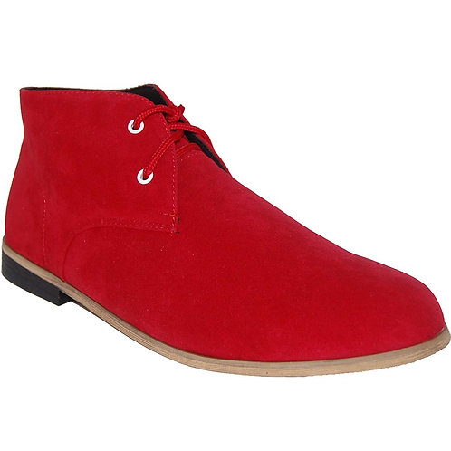 Alverto Men's Red Casual Lace-up Desert Boot