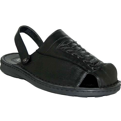 Milton KRAZY Shoes Breathable Men's Slip-on Adjustable Back Strap Black Sandals
