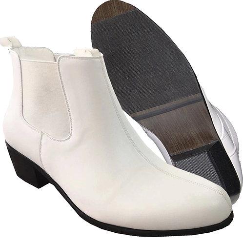 Beat White KRAZY Shoe Artists Men's 2 Inch Cuban Heel Boot