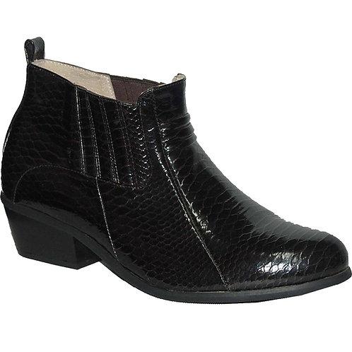 KRAZY Shoe Black Men's Slip-on Cuban Heel Shoe