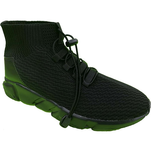 Shane Shoe Artists Republic Collection Men's Black Knitted Sneaker