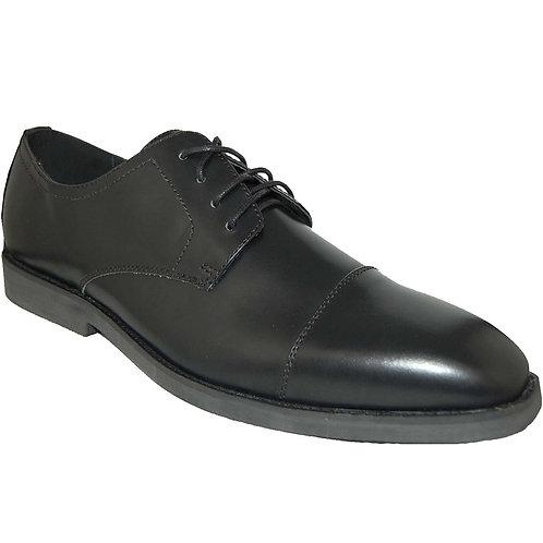 Kevin30 KRAZY Shoe Artists Men's Black Cap Toe Lace-up Dress Shoe