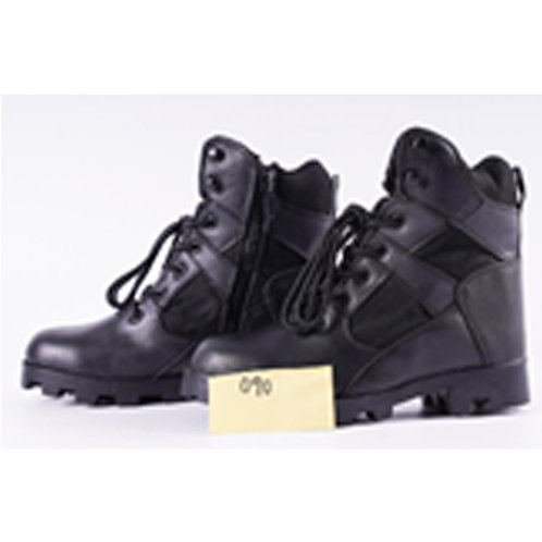 Men's Toughened 7 inch Black Lace Up Leather Tactical Boot
