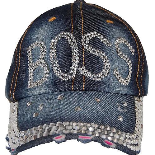 Da'Boss Krazy Artists Lady's Designer Denim Strap-back Hat, One Size