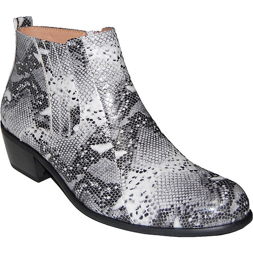 KRAZY Shoe Artists Python Zipper Men's Cuban Heel Shoe