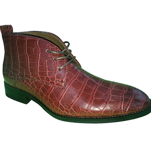 Kenzo Shoe Artists Republic Red Crocodile Design Lace-up Casual Boot