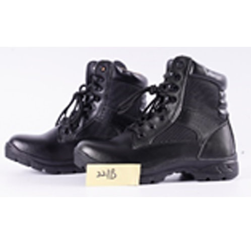 Seal Men's Leather 7 inch Black Lace Up Tactical Boot