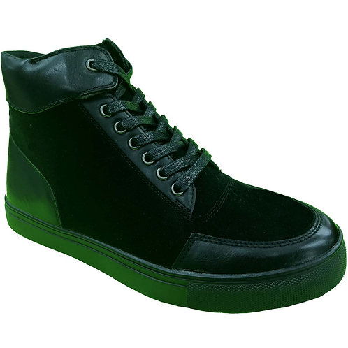 Sucamo Shoe Artists Republic Collection Men's Black Velcro High Top Sneaker