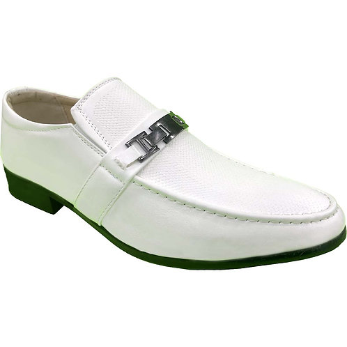 Shoe Artists Republic Collection Rensou Men's White Loafer