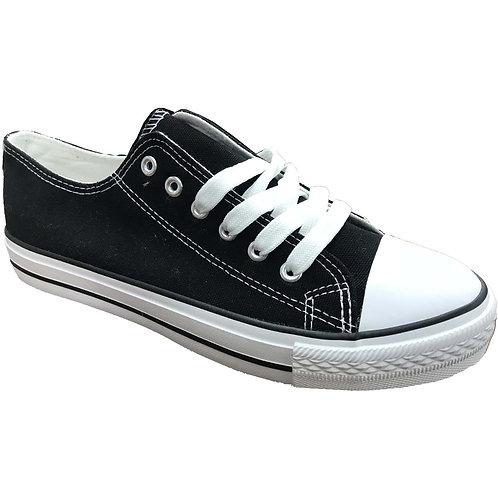 Classic Skater Style Shoe Artists Republic Collection Men's Black Canvas Sneaker