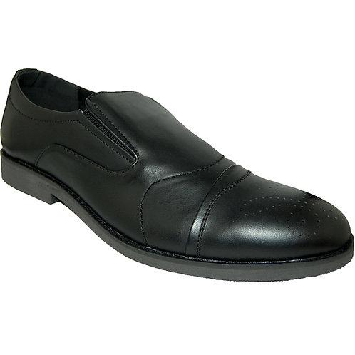 Robson KRAZY Shoe Artists Men's Black Slip On Cap Toe Casual Dressy Sho