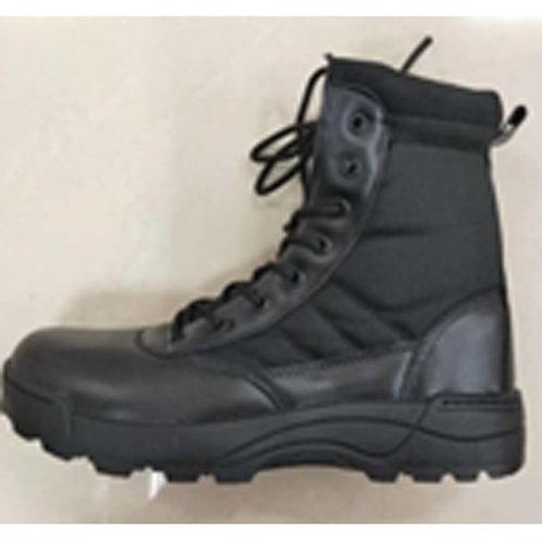 Drako Men's 8 inch Black Leather & Nylon Lace Up Combat Boot
