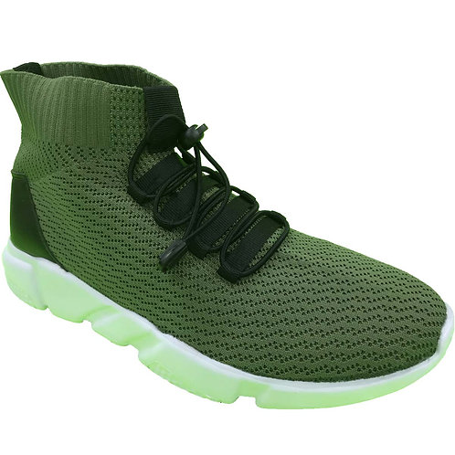 Shane Shoe Artists Republic Collection Men's Khaki Black Knitted Sneaker