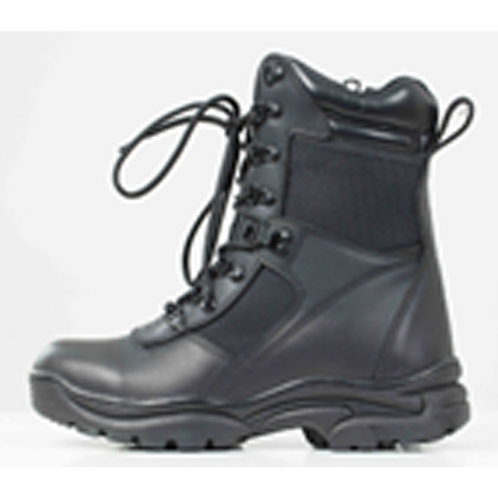 Fighter's Men's Leather 8 inch Black Lace Up Tactical Boot