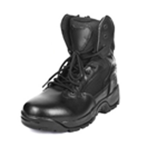 Men's 8 inch Leather Lace Up Black Combat, Tactical Boot